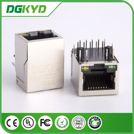 China China factory KRJ-320DNL metal shielded single port gige cat6 rj45 jack with LED supplier