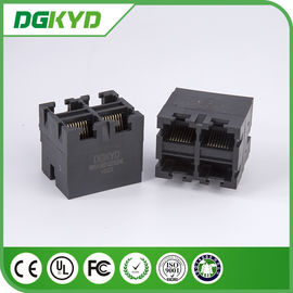 China Metal Shielded 2X2 RJ45 Multiple Port connectors without transfomer supplier