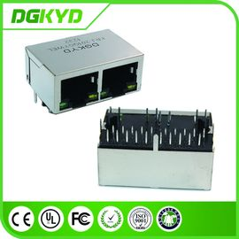 China 1000BASE 2 Port Tab Down RJ45 PCB Connector Transformer for Network supplier